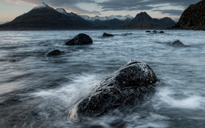 mare, oceano, pond, pietre, cielo, Rocce