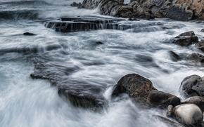 Meer, Ozean, Teich, Steine, Rocks