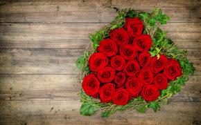 праздник, день Святого Валентина, сердце, цветы, розы