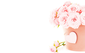 节日, 情人节, 心脏, 玫瑰, 花卉