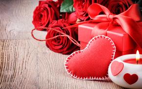 Valentine, Fiori, Roses, donazione, cuore, candela