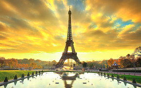 Eiffel Tower, Paris, France, Эйфелева башня, Париж, Франция
