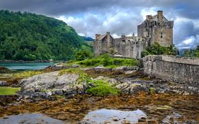 Zamek Eilean Donan, Szkocja, zamek, krajobraz