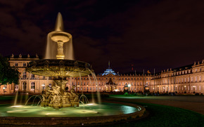 Neues Schloss, palace, FOUNTAIN, Stuttgart, Germany