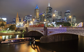 Melbourne, Fiume Yarra, notte