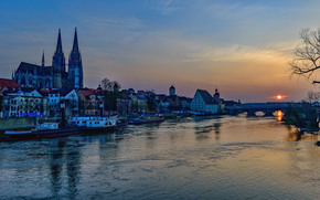 The Danube River, Regensburg, St. Peter's House