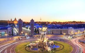 Испания, Барселона, город, ночь
