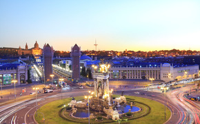 Spain, barcelona, city, night