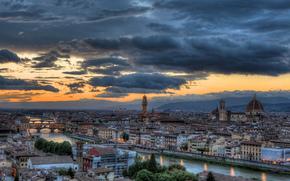 Флоренция, Италия, закат