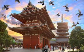Храма Асакуса Каннон, Токио, япония