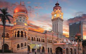 Merdeka Square, Kuala Lumpur, sunset