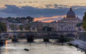 Ponte Romano di Adriano, Roma, Italia, Castel Sant'Angelo