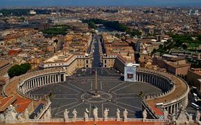 Rome, view from the top of the dome of St. Peter's, Vatican, city