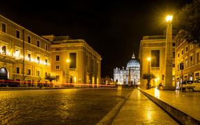 Roma, Roma Vatican, noapte