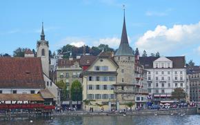 Switzerland, Lucerne, city
