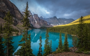 Moraine Lake, Banff, Rocky Mountain, Canada, paysage