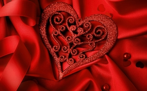 Valentine, heart, hearts, Letna, matter, cloth