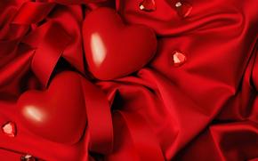 Valentin, cœur, Cœur, cœurs, Letna, d'importance, chiffon