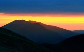 Personas de Kisenok, Montañas, cielo, luz, aire, puesta del sol