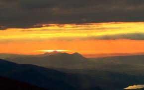 обои от Kisenok, горы, небо, свет, воздух, закат