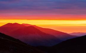 Personas von Kisenok, Mountains, Himmel, Licht, Luft, Sonnenuntergang