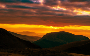 Personas by Kisenok, Mountains, sky, light, air, sunset