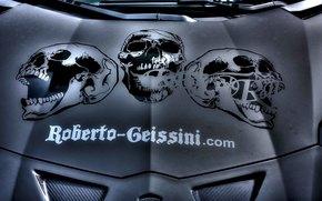 Personas de Kisenok, máquina, Coche, coche, transporte, carretilla, dibujo, Cráneo