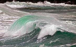 morze, fale, krajobraz