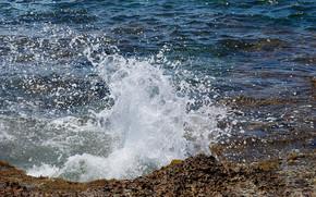 sea, waves, landscape