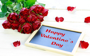 Valentin, Roses, bouquet, EUDB, Pétales, félicitation
