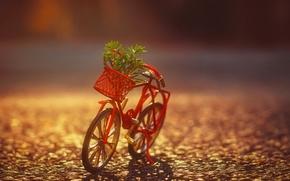 велосипед, игрушка, макро