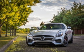 Mercedes-AMG GT S, Mercedes-Benz, Sports car, дорога