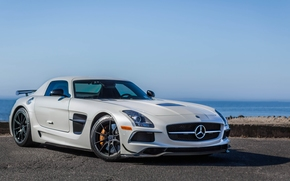 2014 Mercedes-Benz SLS AMG Black Series, Mercedes-Benz, Supersportwagen, Supercar, weiß