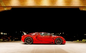Bugatti Veyron, Bugatti, Veyron, giperkar, czerwony