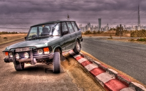 range rover, machine, car