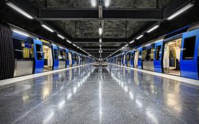 Stockholm, Sweden, city, metro