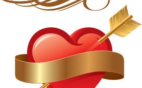Valentine, Walentynki, święto, serce, kiery, Serce