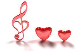 обои от Kisenok, день святого валентина, день всех влюбленных, праздник, сердце, сердечки, сердца, музыкальный ключ