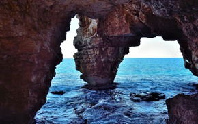 Rocks, sea, arch, landscape