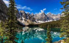 Lake Moraine, Banff National Park, Alberta, Kanada