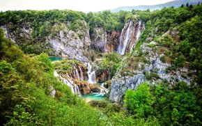 Plitvice Lakes National Park, croatia, waterfall