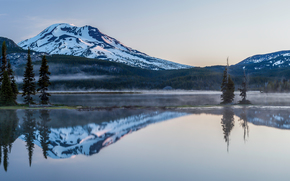 Sparks Lake, Deschutes County, Oregon, панорама