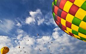 Balloon Fiesta, niebo, Balony