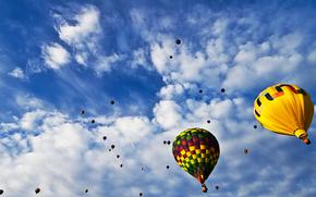Balloon Fiesta, небо, воздушные шары