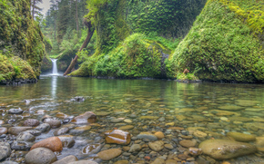 Punchbowl Falls, Columbia River Gorge, waterfall, river, nature