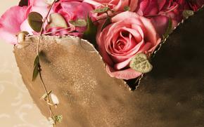 обои от Kisenok, день святого валентина, день всех влюбленных, праздник, сердце, розы, композиция