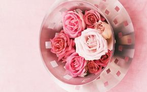 Flowers, flower, rose, Roses, COMPOSITION, bouquet, bowl
