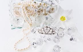 бижутерия, украшения, цветок, подарки, праздник