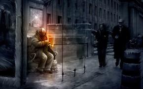 humeur, feu, Moscou, froid