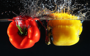 pepper, vegetables, peppers, water, LIQUID, spray